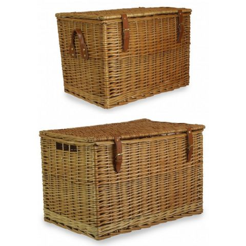 Cotswolds Stacking & Nesting Wicker Storage Trunks